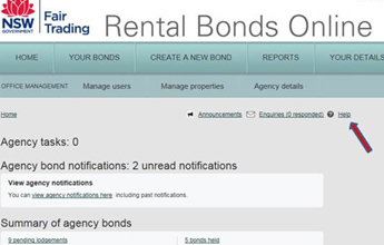 Rental Bonds Online help available
