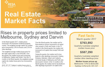 National median house price increases