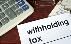 Witholding tax could cause delays
