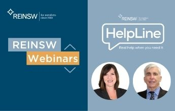 Webinar | REINSW Helpline – Your questions answered